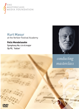 Kurt Masur: Mendelssohn - Symphony No 4 in A Major Italian - first two movements (MMF-032)
